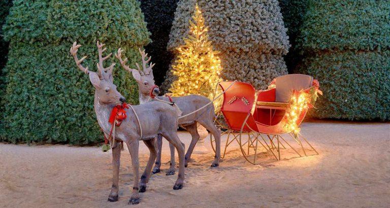 Χριστουγεννιάτικα έλκηθρα με ελάφια